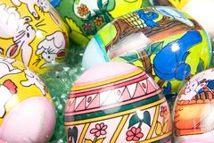 Uova di Pasqua Decorate immagine stock libera da diritti