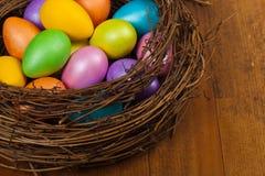 Uova di Pasqua decorative Fotografie Stock Libere da Diritti