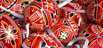 Uova di Pasqua decorative Fotografia Stock Libera da Diritti