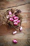 Uova di Pasqua del cioccolato Immagine Stock Libera da Diritti