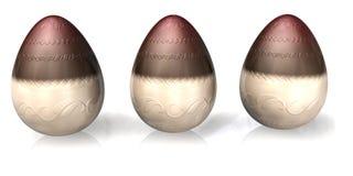 Uova di Pasqua del cioccolato Immagine Stock