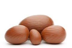 Uova di Pasqua del cioccolato fotografie stock libere da diritti