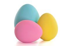 Uova di Pasqua Del mestiere isolate su bianco Immagini Stock Libere da Diritti