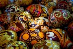 Uova di Pasqua dell'ucranino - pysanka Fotografia Stock Libera da Diritti