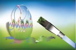 Uova di Pasqua della pittura Immagini Stock Libere da Diritti