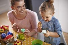 Uova di Pasqua della pittura fotografia stock