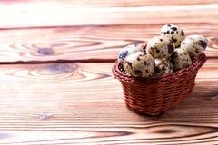Uova di Pasqua della quaglia Fotografie Stock Libere da Diritti