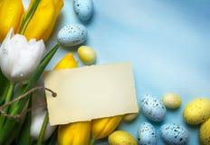 Uova di Pasqua di Art Colorful Priorità bassa con le uova di Pasqua immagine stock libera da diritti