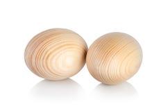 Uova di Pasqua di legno Fotografie Stock Libere da Diritti