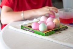 Uova di Pasqua di morte Fotografia Stock Libera da Diritti
