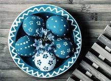 Uova di Pasqua dipinte Fotografia Stock Libera da Diritti