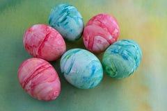 Uova di Pasqua dipinte acquerello Fotografie Stock Libere da Diritti
