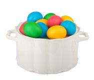 Uova di Pasqua Dipinte in bello chinaware immagini stock