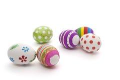 Uova di Pasqua dipinte a mano Fotografia Stock Libera da Diritti