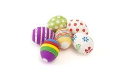 Uova di Pasqua dipinte a mano Immagini Stock Libere da Diritti