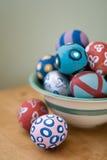Uova di Pasqua dipinte a mano Fotografie Stock