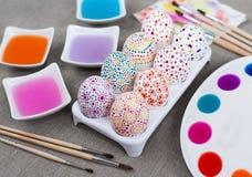 Uova di Pasqua Della decorazione Fotografie Stock