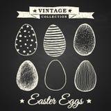 Uova di Pasqua disegnate a mano Fotografia Stock