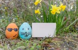 Uova di Pasqua divertenti Fotografia Stock