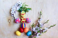 Uova di Pasqua divertenti Immagine Stock