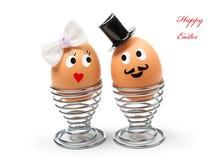 Uova di Pasqua divertenti fotografie stock libere da diritti