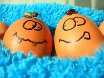 Uova di Pasqua divertenti Immagine Stock Libera da Diritti