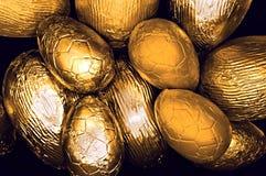 Uova di Pasqua dorate Assorted Fotografia Stock Libera da Diritti
