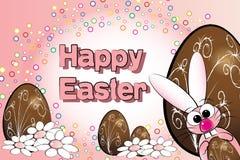 Uova di Pasqua E coniglietto - illustrazione dei bambini Immagine Stock