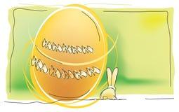 Uova di Pasqua e coniglio Fotografie Stock Libere da Diritti