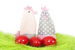 Uova di Pasqua e decorazioni Fotografia Stock