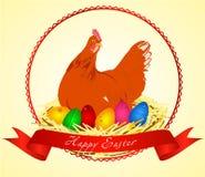 Uova di Pasqua E del pollo Illustrazione di vettore illustrazione vettoriale