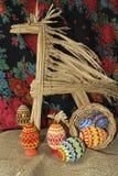 Uova di Pasqua e giocattolo Horsy Immagini Stock Libere da Diritti