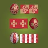 Uova di Pasqua e modelli ornamentali illustrazione vettoriale