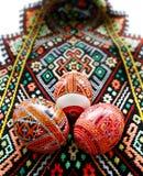 Uova di Pasqua fatte a mano Fotografie Stock Libere da Diritti