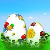 Uova di Pasqua Felici Immagini Stock Libere da Diritti