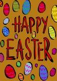 Uova di Pasqua Felici Immagini Stock