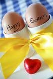 Uova di Pasqua Felici Fotografia Stock