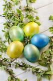 Uova di Pasqua festive Fotografia Stock Libera da Diritti