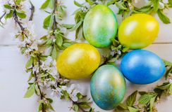 Uova di Pasqua festive Fotografie Stock
