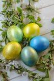 Uova di Pasqua festive Fotografia Stock