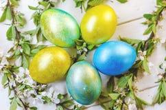 Uova di Pasqua festive Immagini Stock
