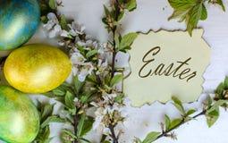Uova di Pasqua festive Fotografie Stock Libere da Diritti