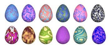 Uova di Pasqua Funky illustrazione di stock