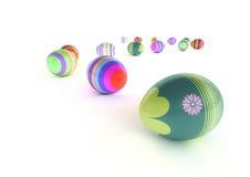 Uova di Pasqua isolate Fotografia Stock