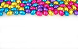Uova di Pasqua Isolate su bianco Immagine Stock Libera da Diritti