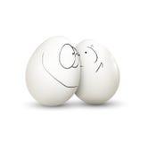 Uova di Pasqua Isolate su bianco Immagini Stock Libere da Diritti