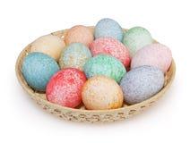 Uova di Pasqua Isolate su priorità bassa bianca Immagine Stock Libera da Diritti