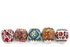 Uova di Pasqua Isolate su priorità bassa bianca Fotografia Stock Libera da Diritti
