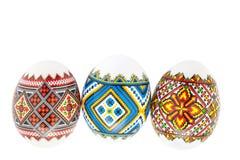 Uova di Pasqua Isolate su priorità bassa bianca Fotografie Stock Libere da Diritti