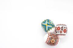 Uova di Pasqua Isolate su priorità bassa bianca Immagini Stock